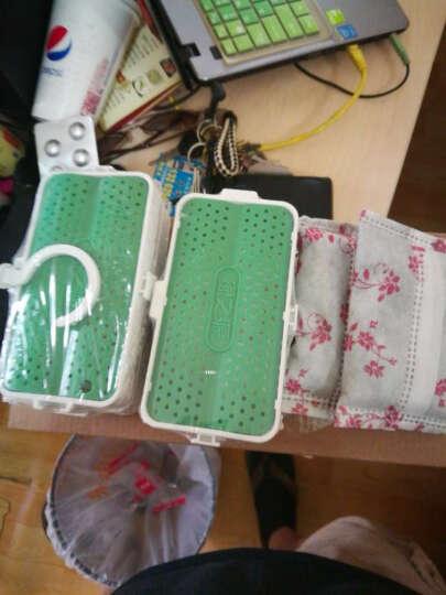 绿之源 可组装型多功能除味盒4盒装 可悬挂衣柜冰箱除味剂去味除臭活性炭竹炭包除异味剂(草绿色) 晒单图