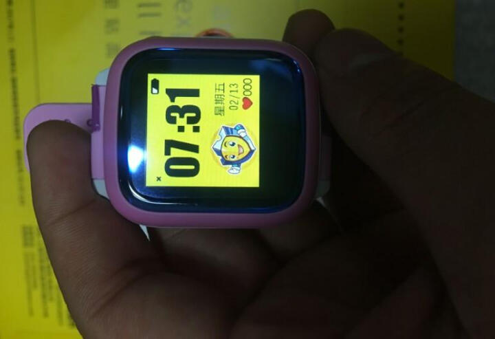 亦青藤 儿童电话手表学生触屏插卡360度智能gps定位男孩女适用iwatch小米华为苹果oppo手机 学习版+白粉(防水+学习资料) 晒单图