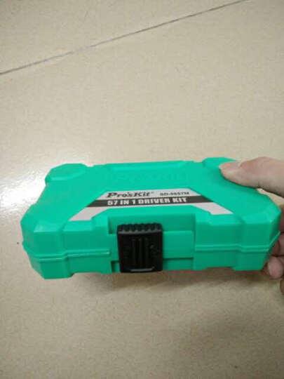 宝工(Pro'sKit) SD-9857M 57合1多功能螺丝刀套装电脑手机精密起子组 剪刀+数显验电笔+加磁消磁器+标配版 晒单图
