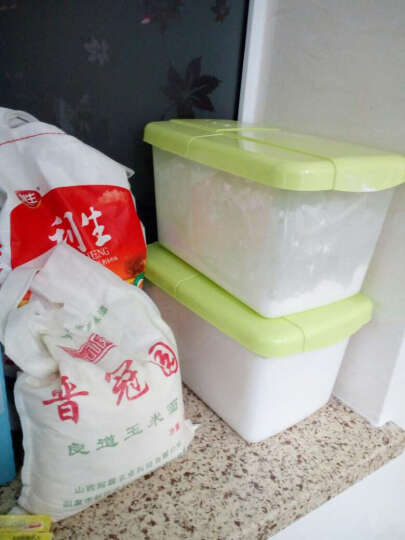 老爹(OldPAPA) 韩式米桶储米箱 10KG米缸防虫防潮塑料装米桶有盖面粉桶20斤 绿色7.5kg 晒单图