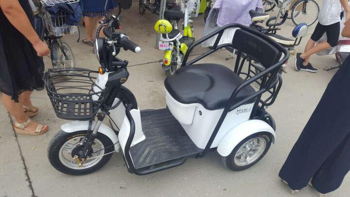 爱玛新款电动三轮车小玛AM1 高性能电控 真空轮胎 USB充电端口 星空白/亚黑 晒单图