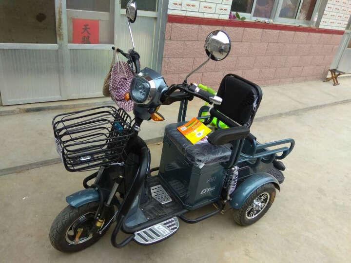 易泽家 电动三轮车老年代步车双人电瓶车成人 镜晶白/黑金48V13A/精灵客货双用 晒单图