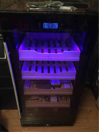 富贵红FGH80XJ恒温恒湿雪茄柜保湿柜压缩机冷藏柜茶叶柜家用立式雪松木保湿盒烟柜1.25米 晒单图