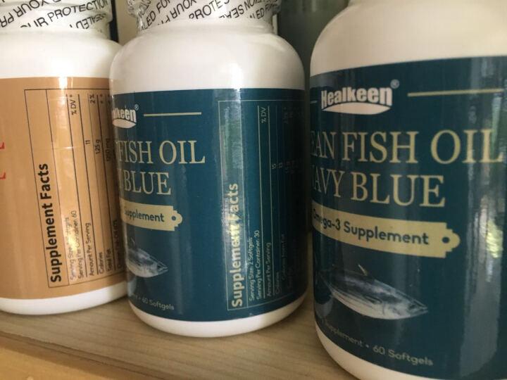 美国Healkeen高浓度深海鱼油软胶囊 高倍欧米伽3 美国原装进口 1250mg 60粒 【香港仓】高纯度金装鱼油 2瓶 晒单图