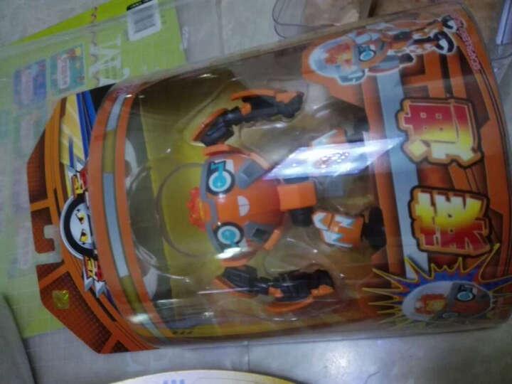灵动创想(LDCX)蛋蛋小子酷玩变形弹射机器人爆丸可动公仔对战系列玩具 Q版爆能机甲王 晒单图