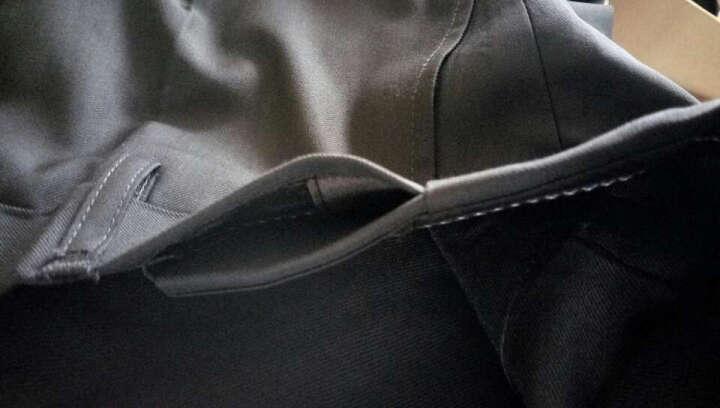 霸王车男士西服套装修身免烫商务休闲职业正装西装男套装新郎结婚礼服男 6629黑色一扣(后中开衩)偏小一码 175码套装 晒单图
