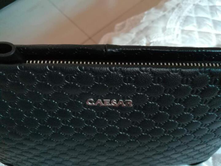 凯撒大帝新品男士手包真皮长款手拿包商务手抓信封钱包 蓝色小号 晒单图