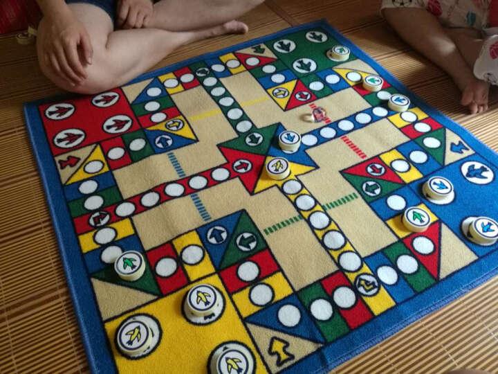 惠多 飞行棋游戏 环保儿童游戏垫 吸水防滑大号飞行棋垫子 80*80CM普通版配圆形棋子 晒单图
