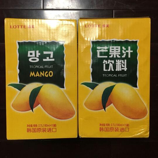 乐天(Lotte)韩国原装进口 乐天芒果汁饮料180ml ×15罐 晒单图
