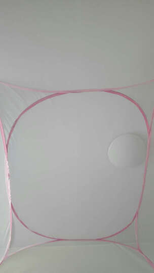 妲咪呀蒙古包蚊帐三开门免安装1.5m床1.8米圆顶双人学生上下床家用 夏日粉红色 1.8m床 晒单图