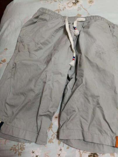 百酷源 短裤男士2017夏装五分裤男沙滩裤夏薄款D591 灰色 XL 晒单图