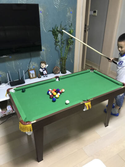 台球桌儿童家用桌球台玩具带台球台杆 加高脚儿童桌球台1.3米 晒单图