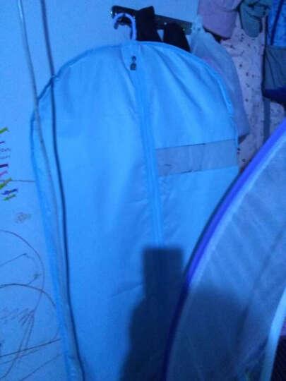 天纵防尘罩可水洗布艺大衣罩 可视西装套加厚衣物防尘套 蝶舞粉 60*100 晒单图