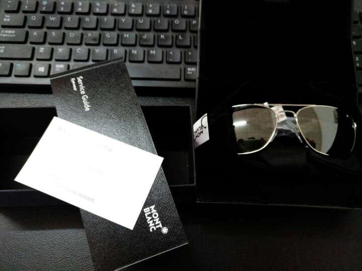 MontBlanc 万宝龙 男款 金色镜框墨绿色镜片眼镜太阳镜MB649S 02A 56MM 晒单图