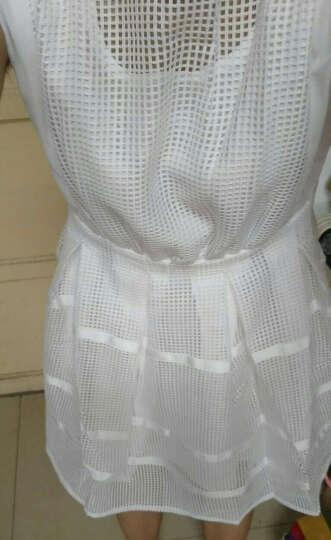 pansplor2016新款亲爱的翻译官杨幂乔菲同款韩版白色无袖镂空时尚百搭连衣裙女 白色 S 晒单图