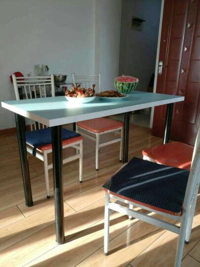 奥特美克简易电脑台式桌子家用简约时尚省空间经济型笔记本电脑桌简约现代 清新蓝 1000*500 晒单图