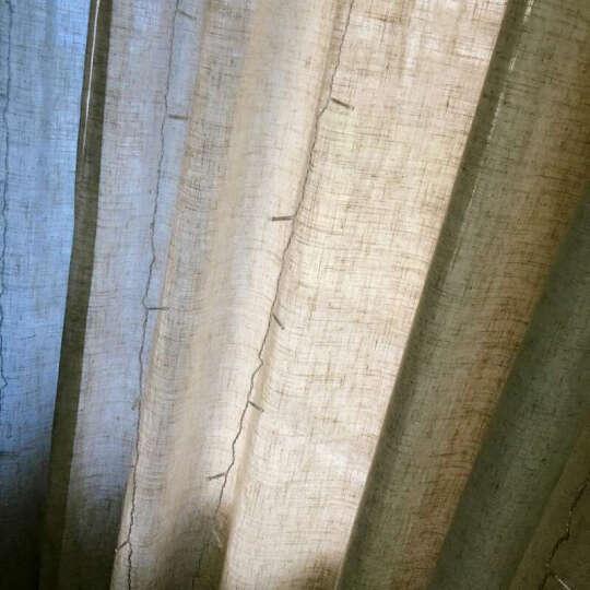 润兰亚麻纯色窗帘棉麻北欧窗纱美式简约客厅定制成品遮光日式麻料纱帘 象牙白 一米布(挂钩加工) 晒单图