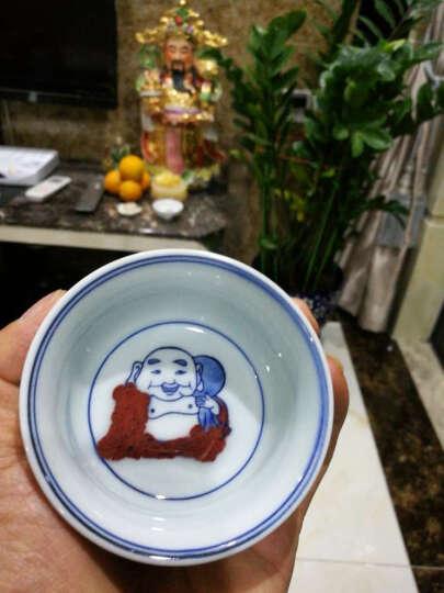 京德贵和祥手绘高温陶瓷个人杯品茗杯私家杯茶杯主人杯专用杯大杯 釉里红欢喜罗汉盏杯 晒单图