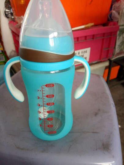 爱因美(aynmer) 爱因美玻璃奶瓶带硅胶保护套宽口防摔带吸管手柄新生儿宝宝奶瓶 新生儿套装绿色120ml+220ml 晒单图