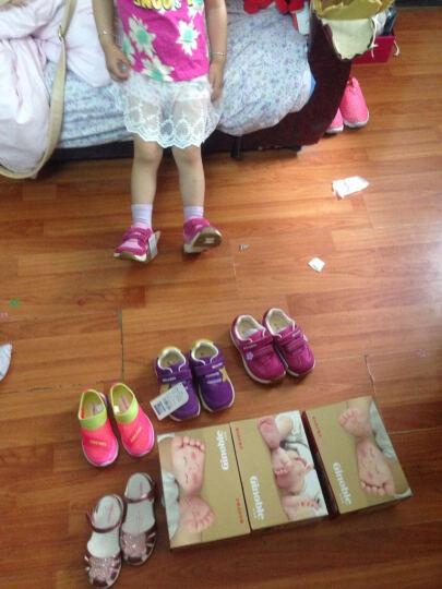 基诺浦Ginoble机能鞋 1-5岁女童公主鞋  春款透气软底学步鞋TXG200 白灰/粉红 10码/鞋垫长17.7cm 晒单图