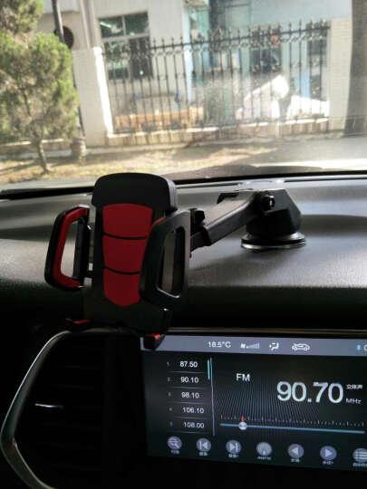 【京东超市】LEEIOO大黄蜂车载手机支架 多功能支架 汽车用品 创意支架0108 红色出风口 红色 晒单图