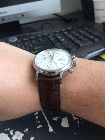 适用IWC万国手表带 男真皮飞行员柏涛菲诺葡萄牙七日链手表链 意大利牛皮|棕色同色线|银色针扣 20mm 晒单图
