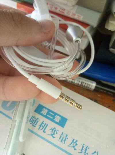 多宝莱 M37透明空气电话耳机健康耳机手机通用特工保镖 双模可调音象牙白 晒单图
