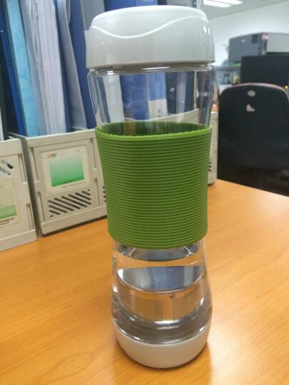 乐扣乐扣(lock&lock)运动水杯带茶隔 茶杯柠檬杯570ml HLC820NT 绿色 晒单图