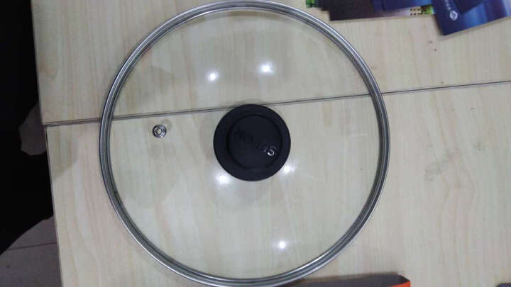 苏泊尔锅盖钢化玻璃G型锅盖平底锅盖(24/26/28/30/32)炒锅/煎锅 大小可选择 不锈钢+玻盖-30CM 晒单图