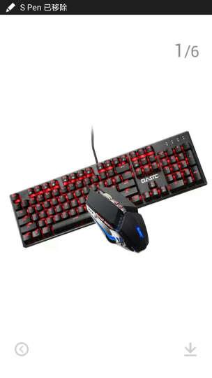 本手幻影机械键盘光轴青轴黑轴台式电脑笔记本有线金属游戏键盘键鼠套装 红光版青轴+锋刃黑色鼠标 晒单图