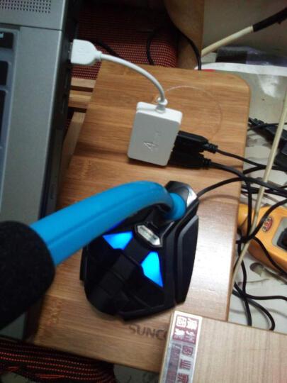 科普斯 K1 USB台式电脑麦克风 K歌录音笔记本 电容话筒 游戏YY聊天专用 黑蓝【USB版】 晒单图