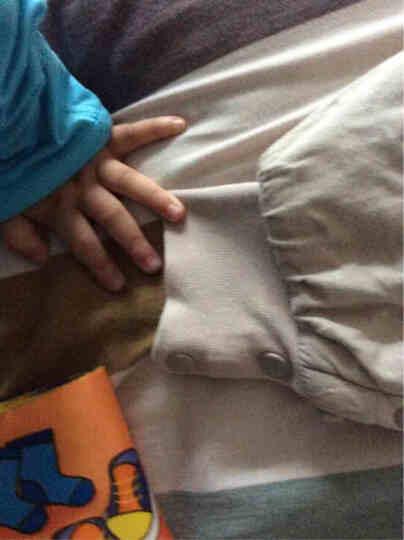 南极人(Nanjiren) 婴儿睡袋夏季春秋纯棉儿童冬季分腿防踢被宝宝纱布睡被 蓝色小鱼冬季加厚夹棉前300后240 80码/适合身高80-100cm 晒单图