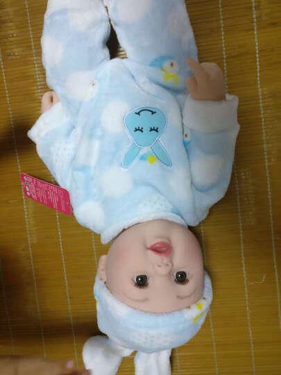 神秘岛婴儿娃娃仿真全软胶宝宝会说话的洋娃娃智能家政早教亲子安抚睡眠儿童女孩玩具 蓝色兔子50CM12声 晒单图