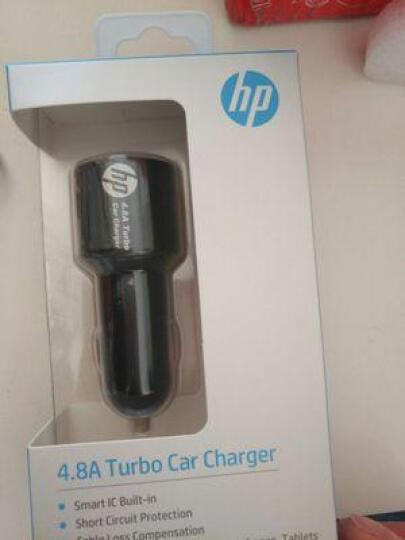 惠普/hp 车载充电器车用一拖二双USB点烟器快速充电4.8A智能手机车充 浅灰色 晒单图