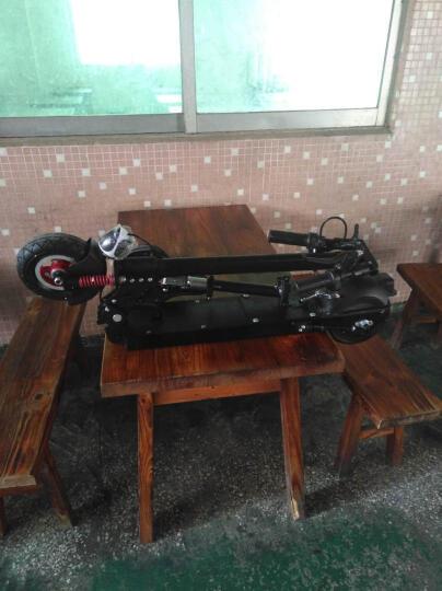 法诺威(FANUOWEI) 电动滑板车成人迷你代驾折叠锂电动车便携电瓶车自行车城市代步车 黑色-普通版(续航20-25公里)送座垫 晒单图