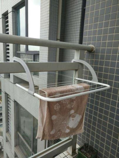 梦思园 可折叠多用晾衣架阳台 暖气片挂架窗台晒衣架鞋架创意多功能晾晒衣架 小号50*34cm 晒单图