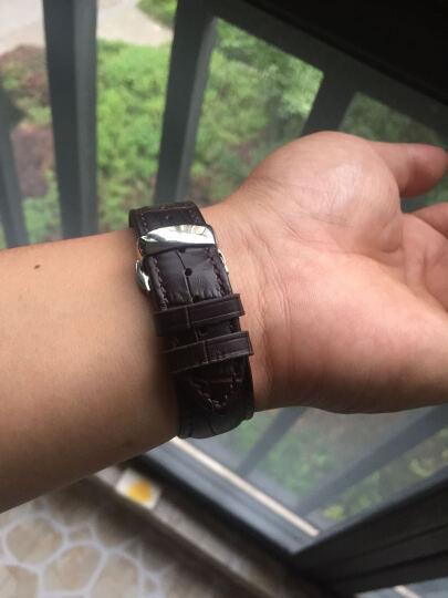 洽利(QIALI)进口真皮智能手表iwatch2/3/4表带 适用于Apple watch/苹果手表 42mm玫瑰红 带不锈钢连接器+蝴蝶扣 晒单图