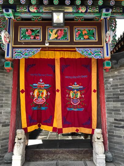 艺巅吉彩 藏式门帘 藏传佛教用品西藏风情布艺隔断帘风水门帘 多款双层面料 款式1 晒单图