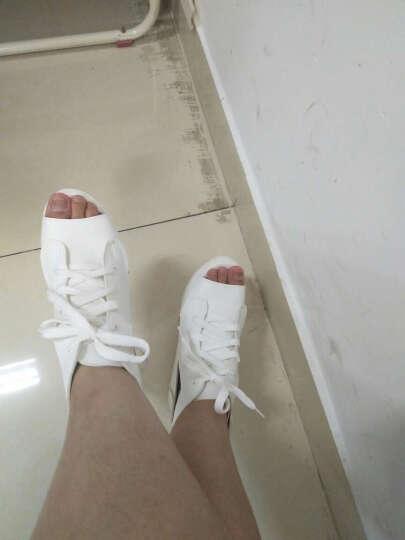 波斯莱凉鞋女2018新款欧美鱼嘴厚底松糕女夏季坡跟鞋 白色 39 晒单图