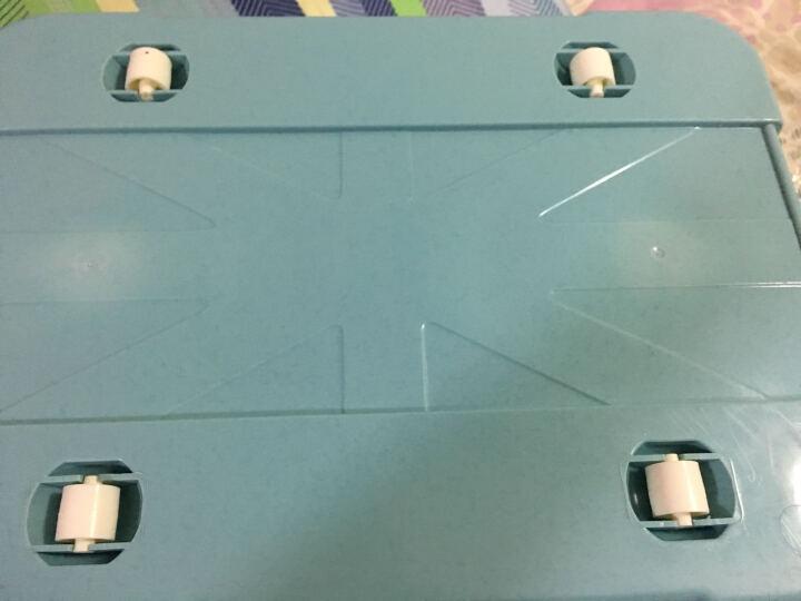 梓晨 收纳箱大小号带轮归纳箱塑料容纳箱滑轮储物箱装衣服玩具收纳盒 绿色 大号55L 晒单图