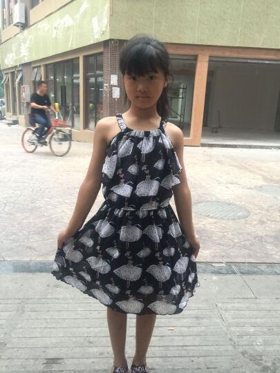 菲尔羿女童连衣裙中大童韩版时尚印花小女孩公主裙2017新款 粉色卡通人 160(150cm) 晒单图
