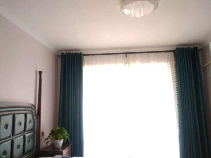 魔方 窗帘成品现代简约北欧风纯色定制客厅卧室棉麻亚麻遮光窗帘布料*清风郁 2010-布-清风郁(绿色) 3.0宽*2.7高-布带挂钩(1片) 晒单图