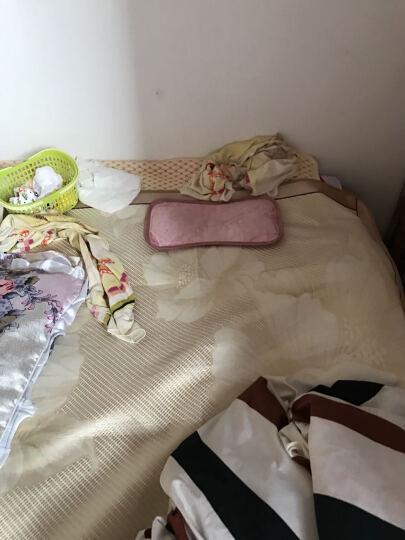 齐开 4件套【凉席+茶枕+童车席+肚围】 婴儿床凉席子 宝宝亚麻冰丝凉席新生儿童枕头用品 凉席 粉+茶枕+肚围+童车席 晒单图