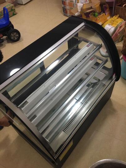 乐创(lecon)商用蛋糕柜冷柜冷藏保鲜柜台式除雾玻璃陈列柜水果饮料寿司熟食柜面包展示柜 白色弧形风冷带防雾 台式后开门0.9米*0.5*0.78 晒单图