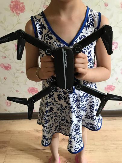 JIE-STAR 杰星遥控飞机无人机实时航拍折叠充电耐摔航模直升飞机四轴飞行器玩具 三锂电超清WiFi实时航拍-白色 晒单图