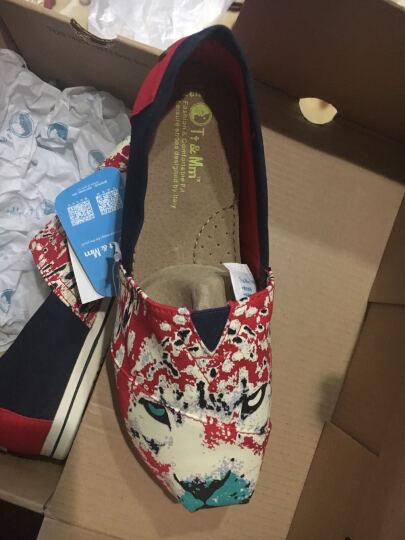 汤姆斯Tt&Mm新款帆布鞋女韩版学生女一脚蹬女生懒人鞋乐福鞋渔夫鞋玛丽鞋TM561109W 绿色 37 晒单图