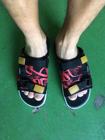 道琪安休闲时尚凉鞋花色帆布凉拖鞋防滑耐磨沙滩凉鞋子 QZXZ 红色 39 晒单图