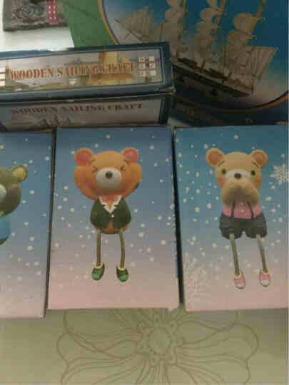 忆君梦三不熊吊脚 小熊树脂田园娃娃家居摆设工艺品 隔板装饰品 一套三个三不小熊 晒单图