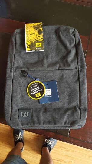 CAT/卡特双肩包男士极简都市设计背包休闲商务笔记本15.6英寸电脑包旅行运动学生书包 酒红 晒单图