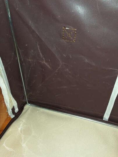 百草园(bicoy)牛津布衣服收纳箱 衣物整理箱储物箱大号56L 3枚装 咖色 晒单图
